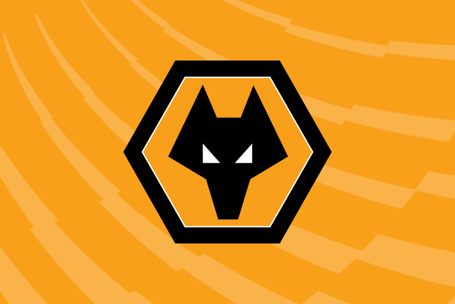 Wolves crest with PL background