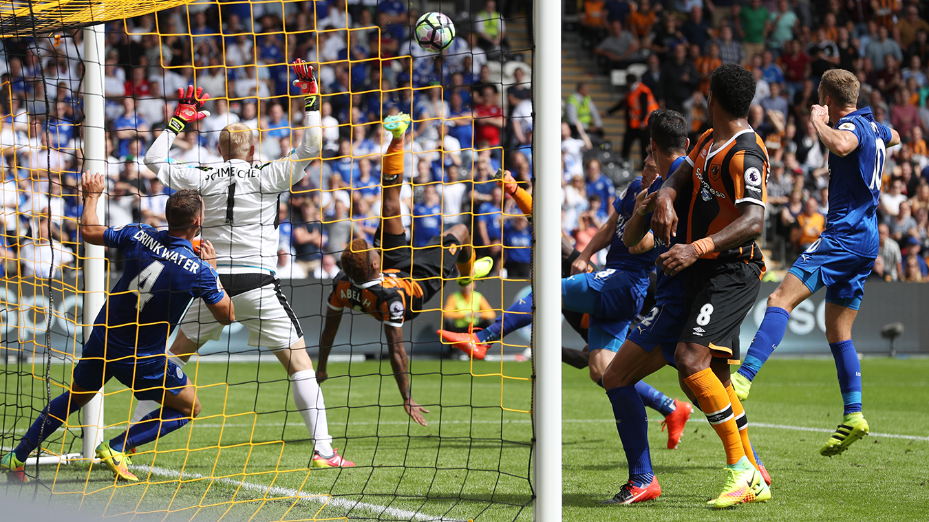 Hull City goal versus Leicester, 2016/17