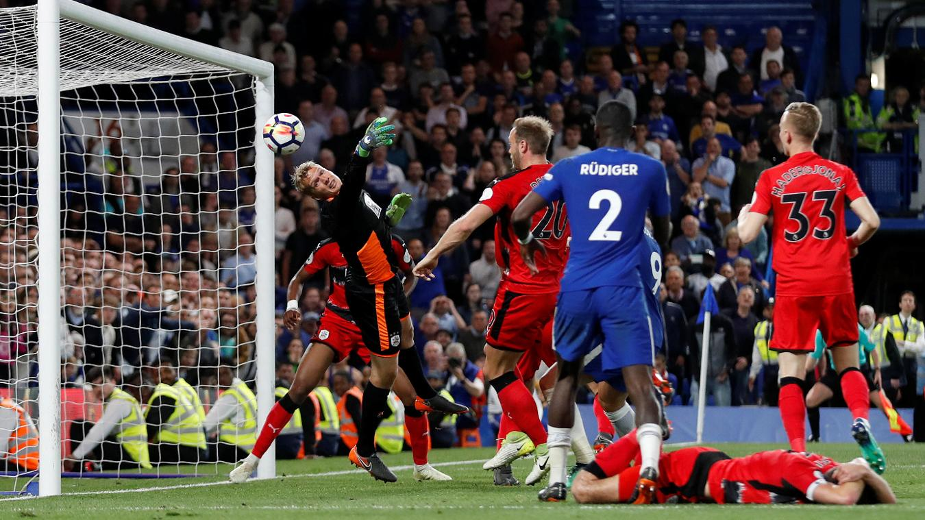 Lossl stretches to deny Chelsea and earn his side a vital point