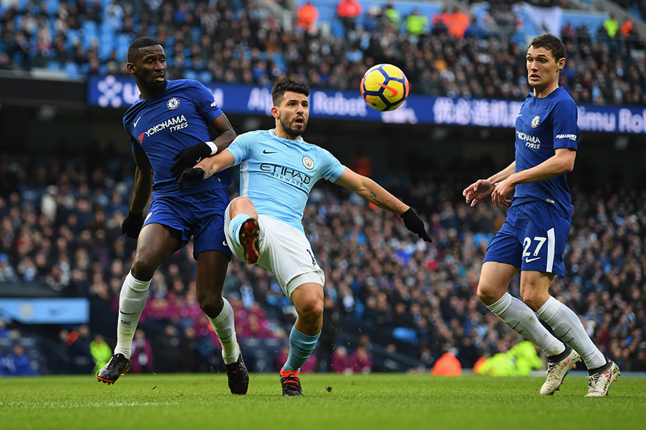 Manchester City in action against Chelsea