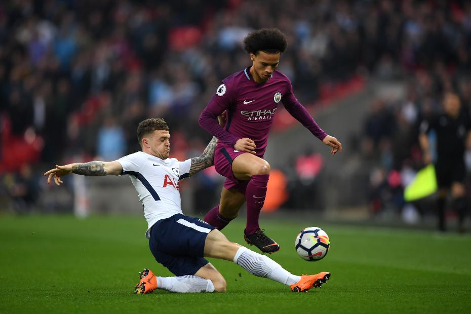 Kieran Trippier and Leroy Sane