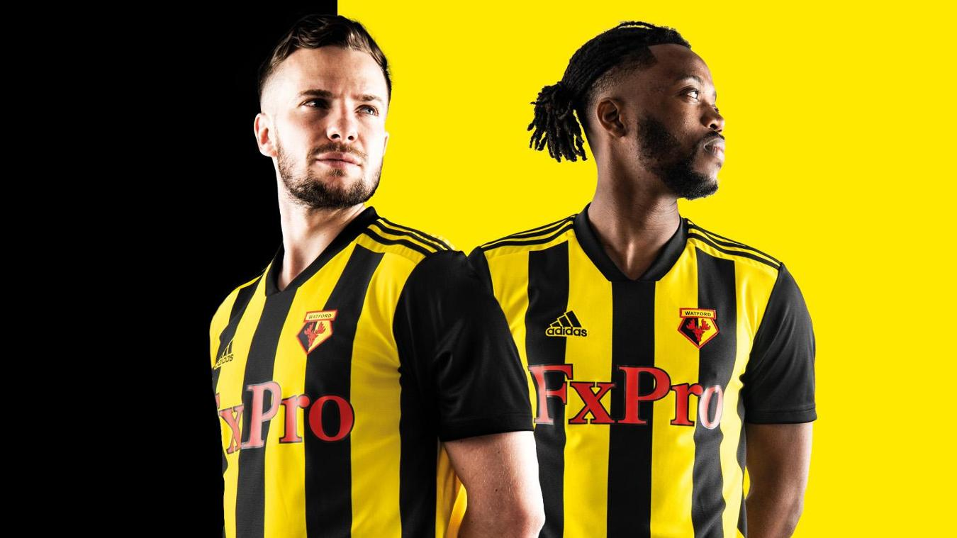 Watford homeTom Cleverley and Nathaniel Chalobah sport Watford s new kit fdd8cbacd