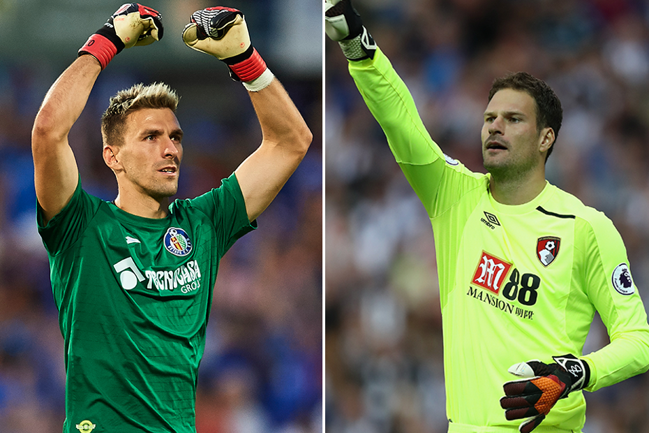 Vicente Guaita and Asmir Begovic