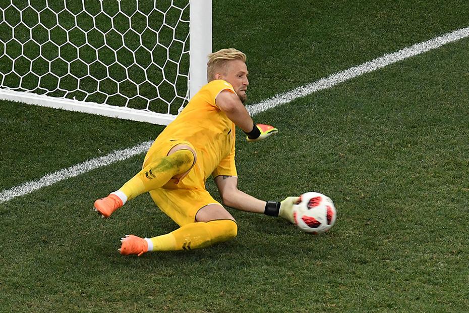Kasper Schmeichel penalty save, Denmark v Croatia
