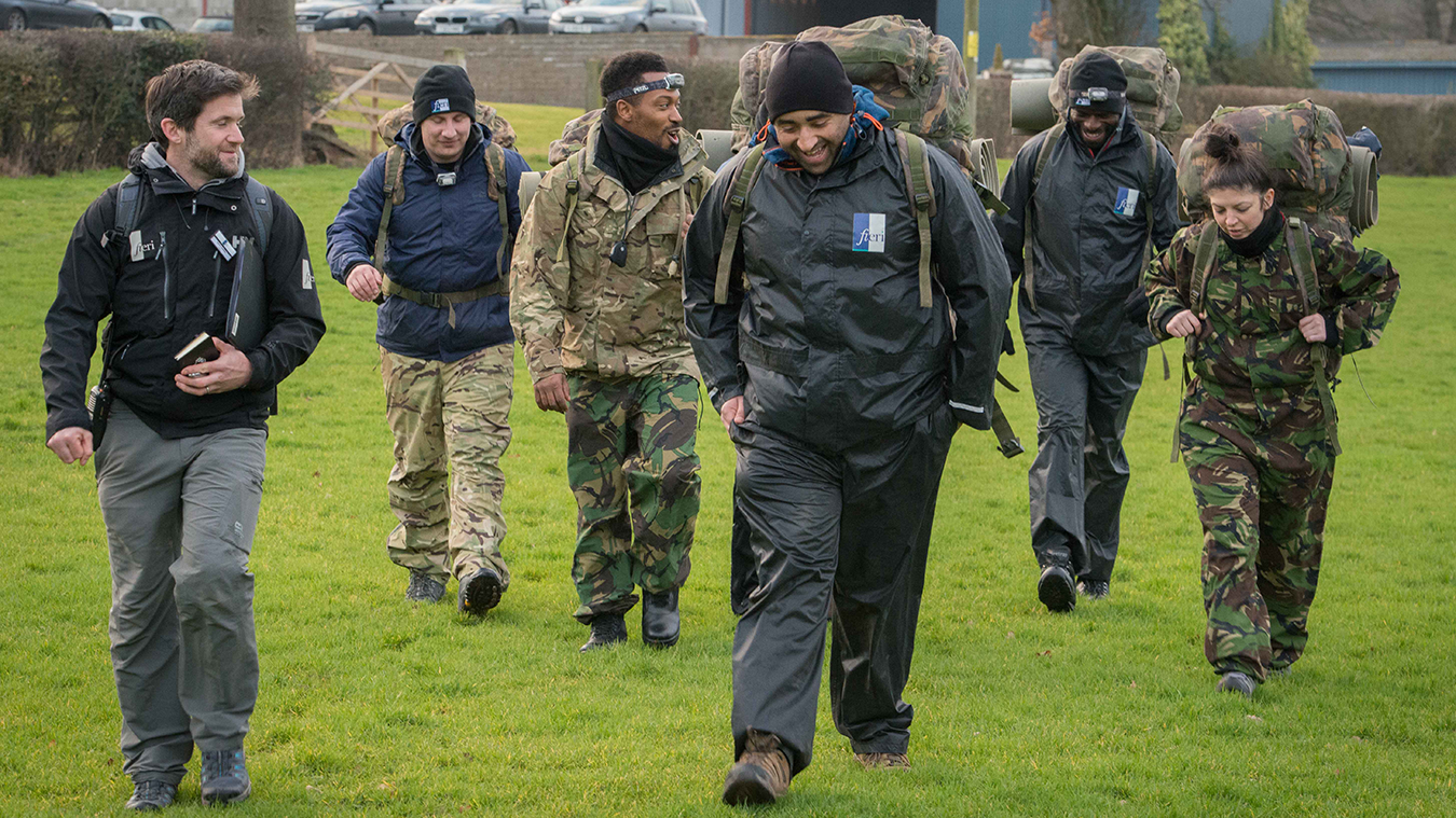 ECAS coaches on a military course