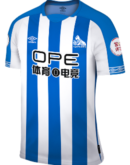 Huddersfield home kit, 2018-19
