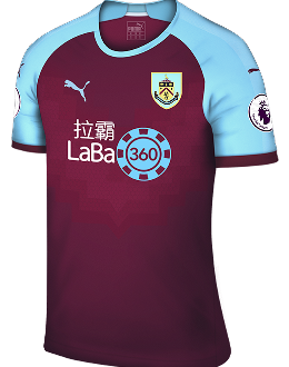 Burnley home kit, 2018-19