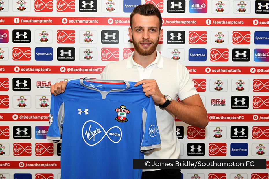 Angus Gunn Southampton shirt credit