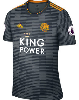 Leicester away kit, 2018-19
