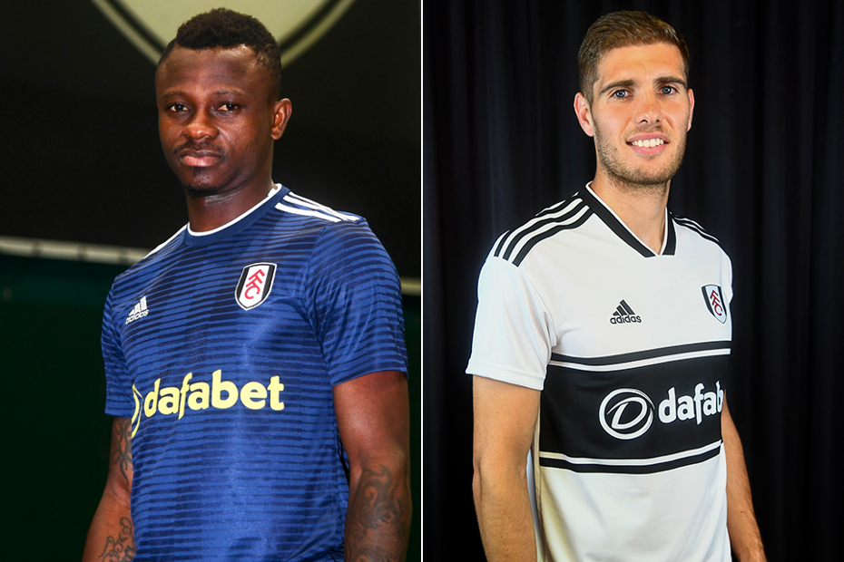Fulham's new signings, Jean Michael Seri (left) and Maxime Le Marchand (right)