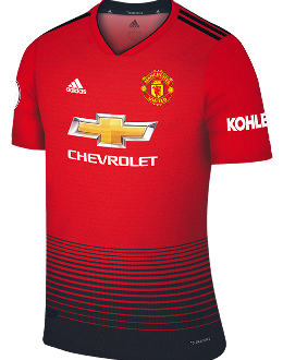 Man Utd home kit, 2018-19