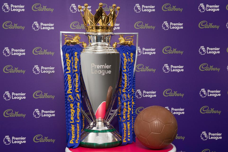Premier League Trophy and Cadbury ball
