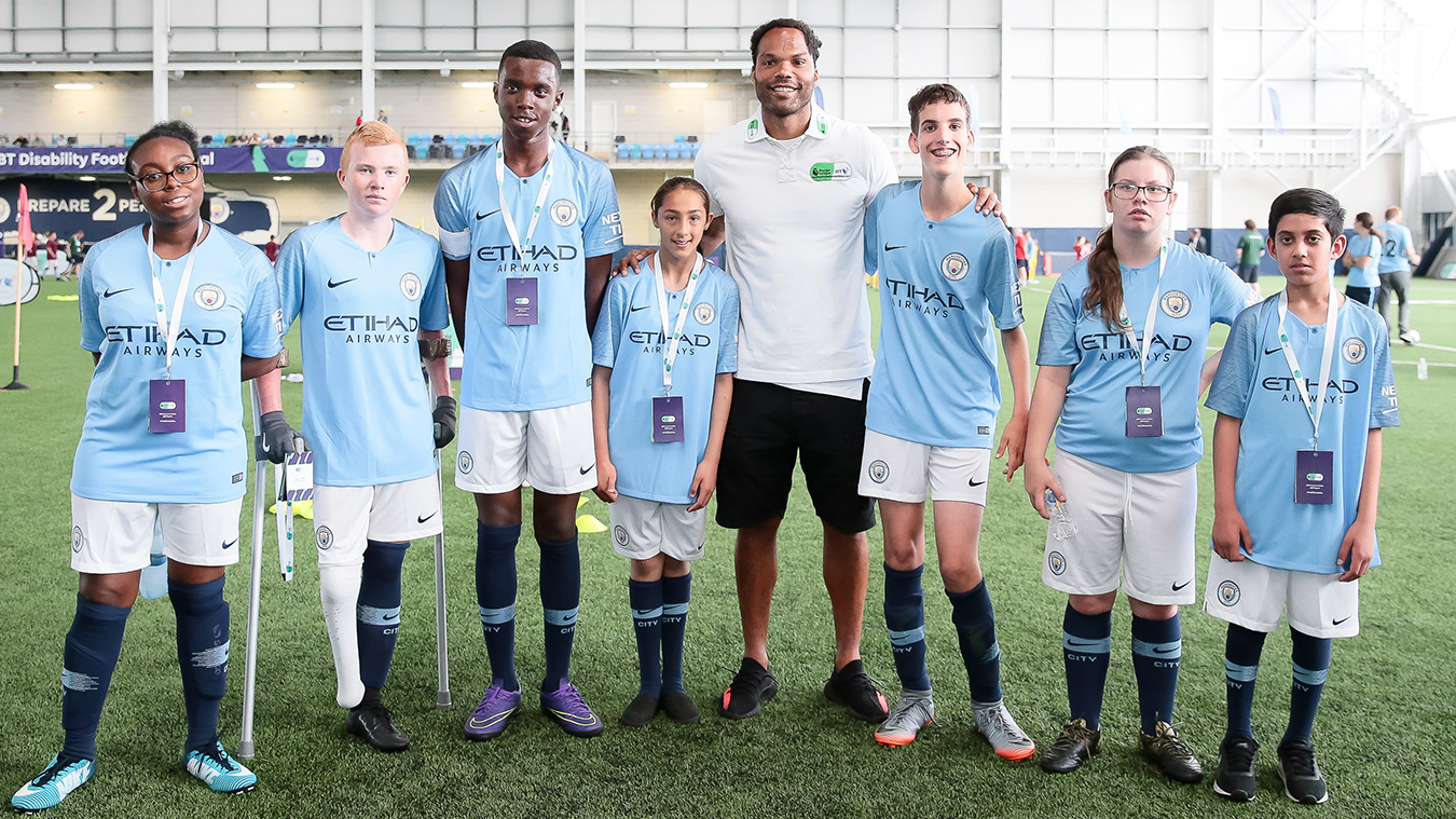 2018 PL/BT Disability Football Festival, Joleon Lescott, Manchester City