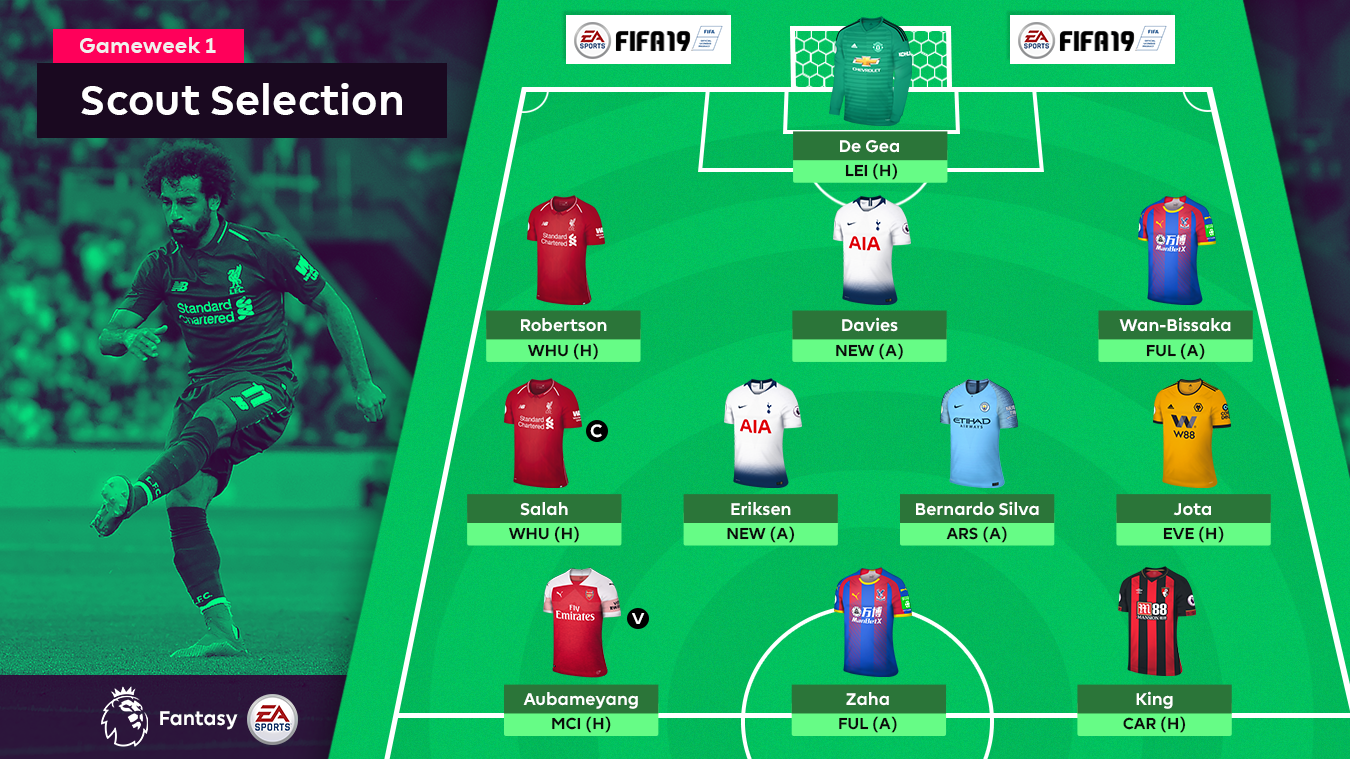 FPL Gameweek 1 Scout Selection