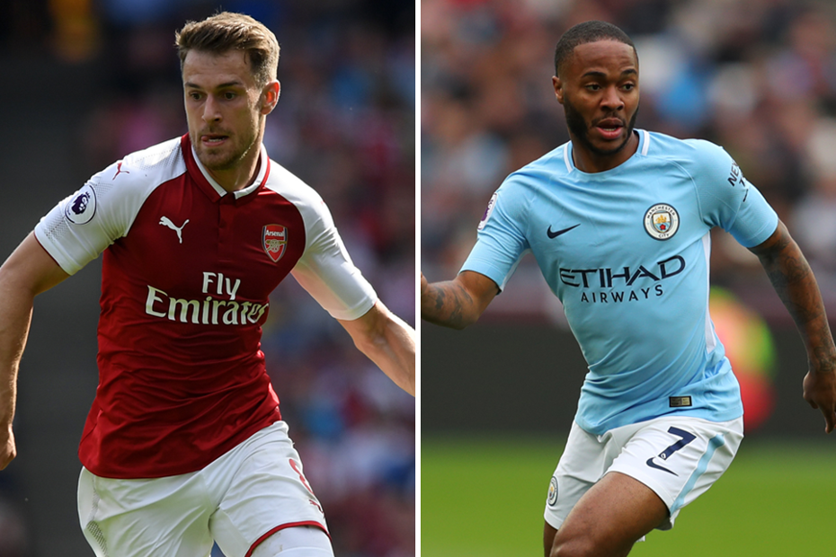 Aaron Ramsey and Raheem Sterling composite