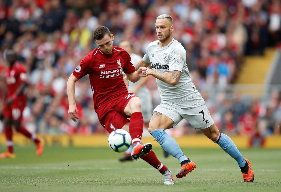 Liverpool v West Ham United - Andrew Robertson