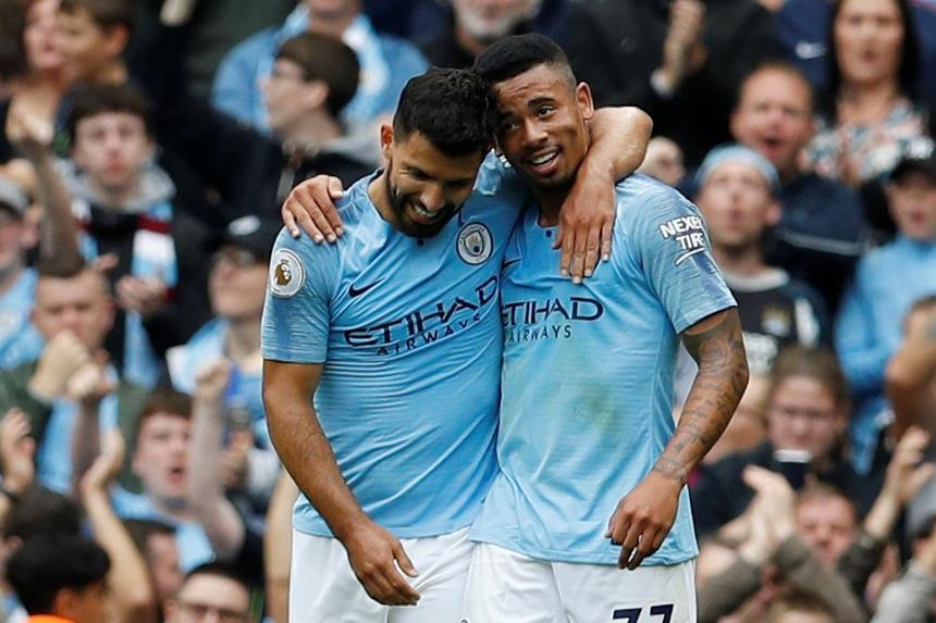 Image result for Aguero and Jesus