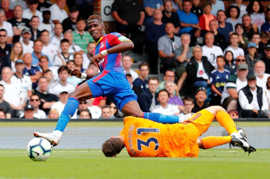 Wilfried Zaha, Fulham v Crystal Palace