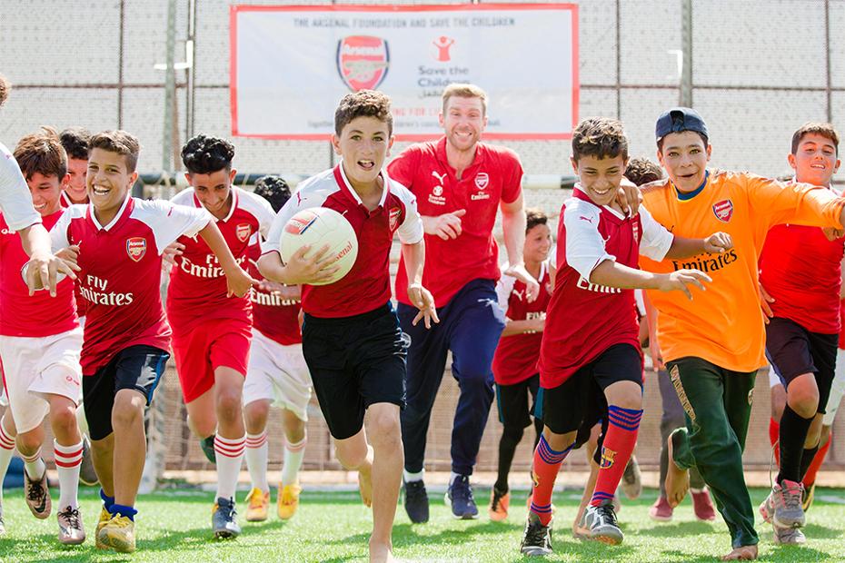 Per Mertesacker, Jordan, Arsenal Foundation