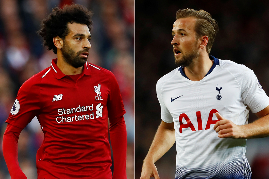 Mohamed Salah, Liverpool, and Harry Kane, of Spurs