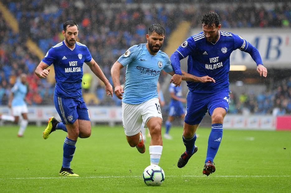 Sergio Aguero, Cardiff City v Man City