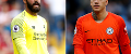Alisson, of Liverpool, and Man City's Ederson