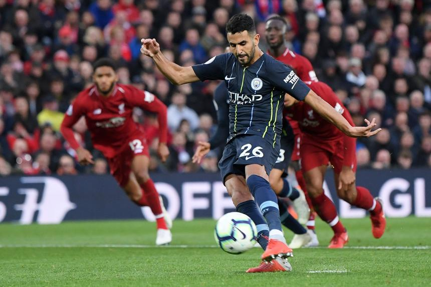 Riyad Mahrez missed penalty