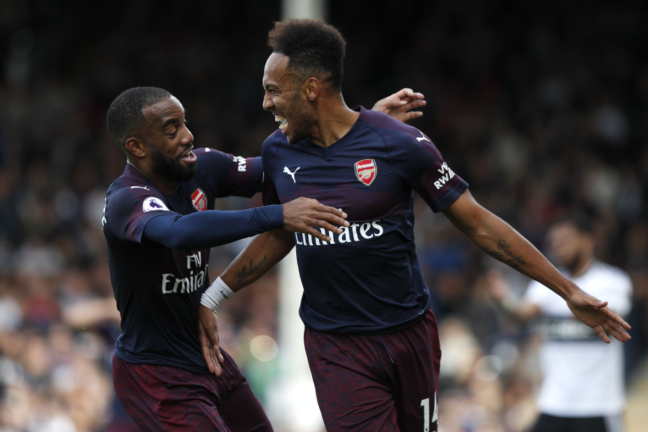 Alexandre Lacazette and Pierre-Emerick Aubameyang, Arsenal