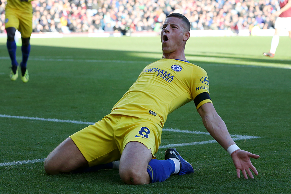 Chelsea's Ross Barkley celebrates his goal against Burnley