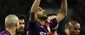 Riyad Mahrez celebrates his goal against Spurs