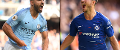 Sergio Aguero, of Man City, and Chelsea's Eden Hazard