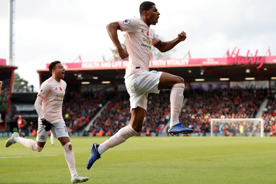Marcus Rashford celebrates goal against AFC Bournemouth.jpg