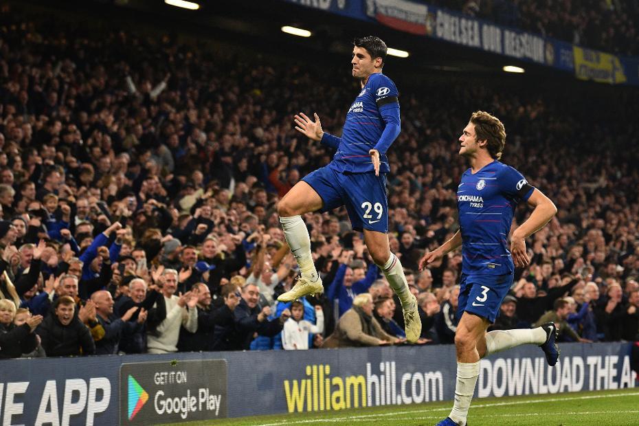 Alvaro Morata and Marcos Alonso, Chelsea