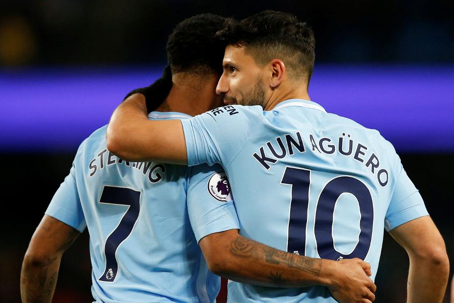 Raheem Sterling and Sergio Aguero, Manchester City