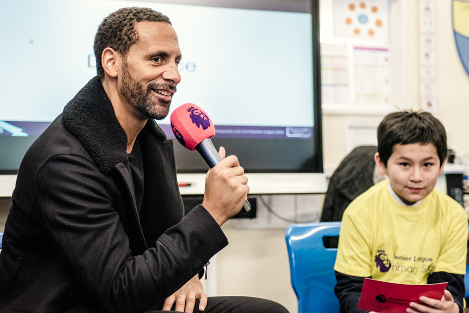 Rio Ferdinand visits old school for PL Writing Stars