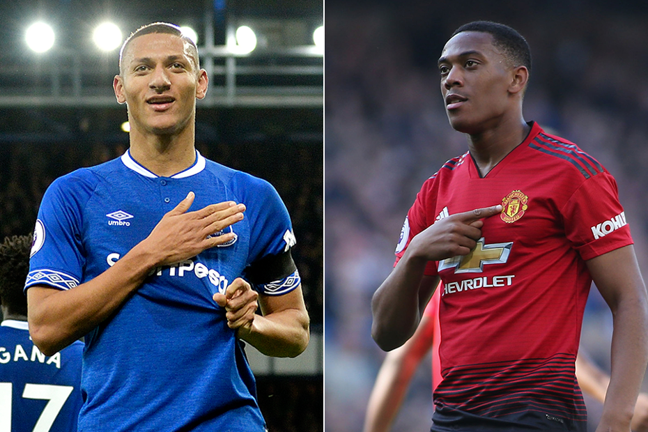 Richarlison and Anthony Martial