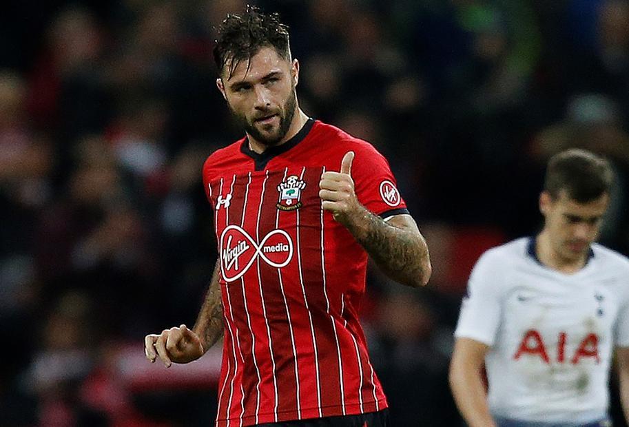 Charlie Austin, Southampton v Spurs cele.jpg