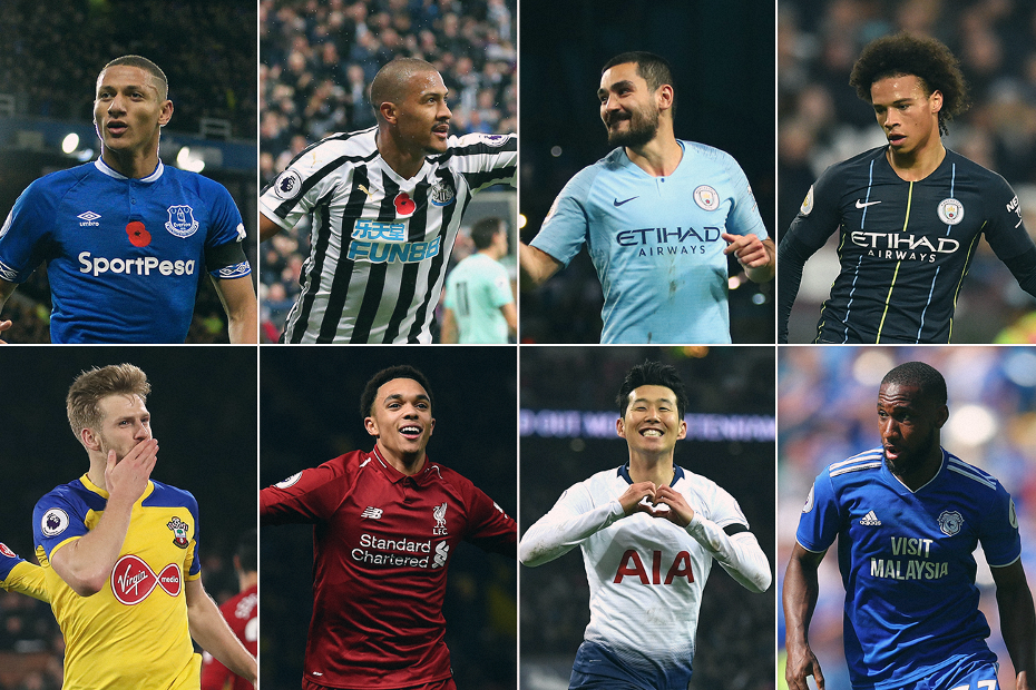 Carling Goal of the Month nominees