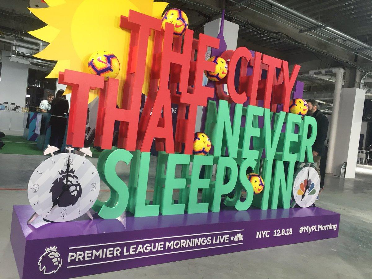 Premier League Mornings Live in Manhattan the biggest ever