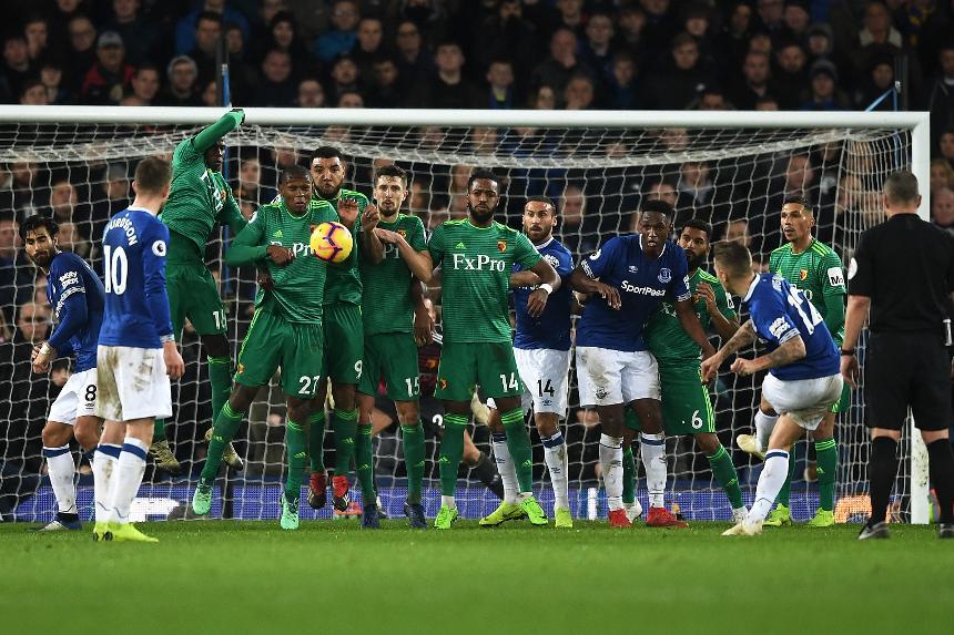 Everton v Watford - Lucas Digne goal