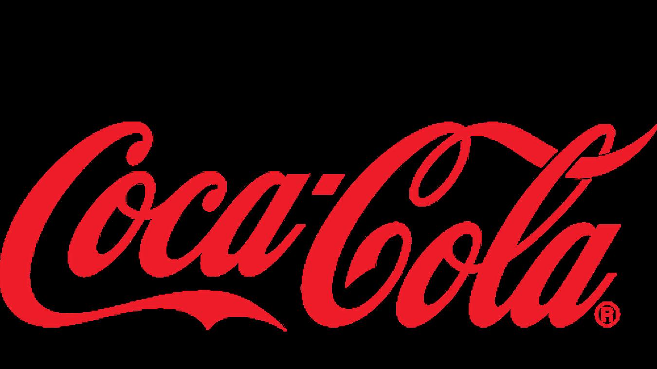 Coca-Cola logo set low