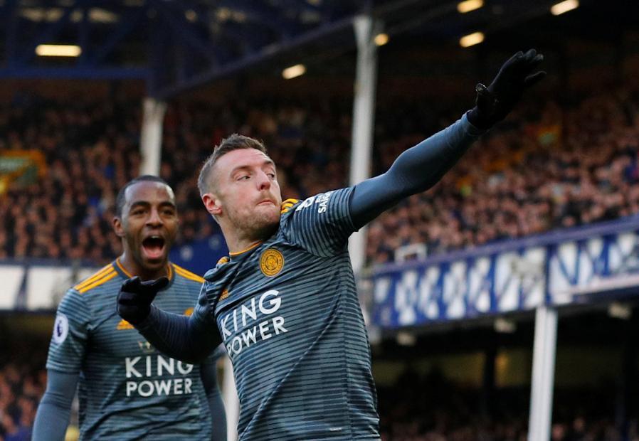 Jamie Vardy - Everton v Leicester City