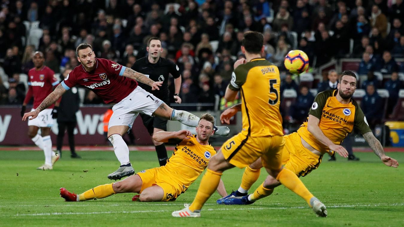 West Ham United 2-2 Brighton & Hove Albion