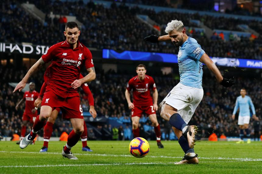 Sergio Aguero - Manchester City v Liverpool