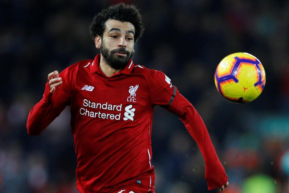 Mohamed Salah chasing ball