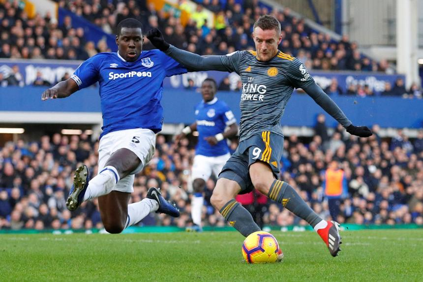 Jamie Vardy, Leicester goal v Everton