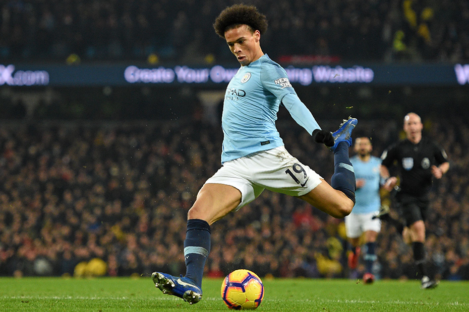 Leroy Sane scores against Liverpool
