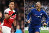 Pierre-Emerick Aubameyang and Eden Hazard composite