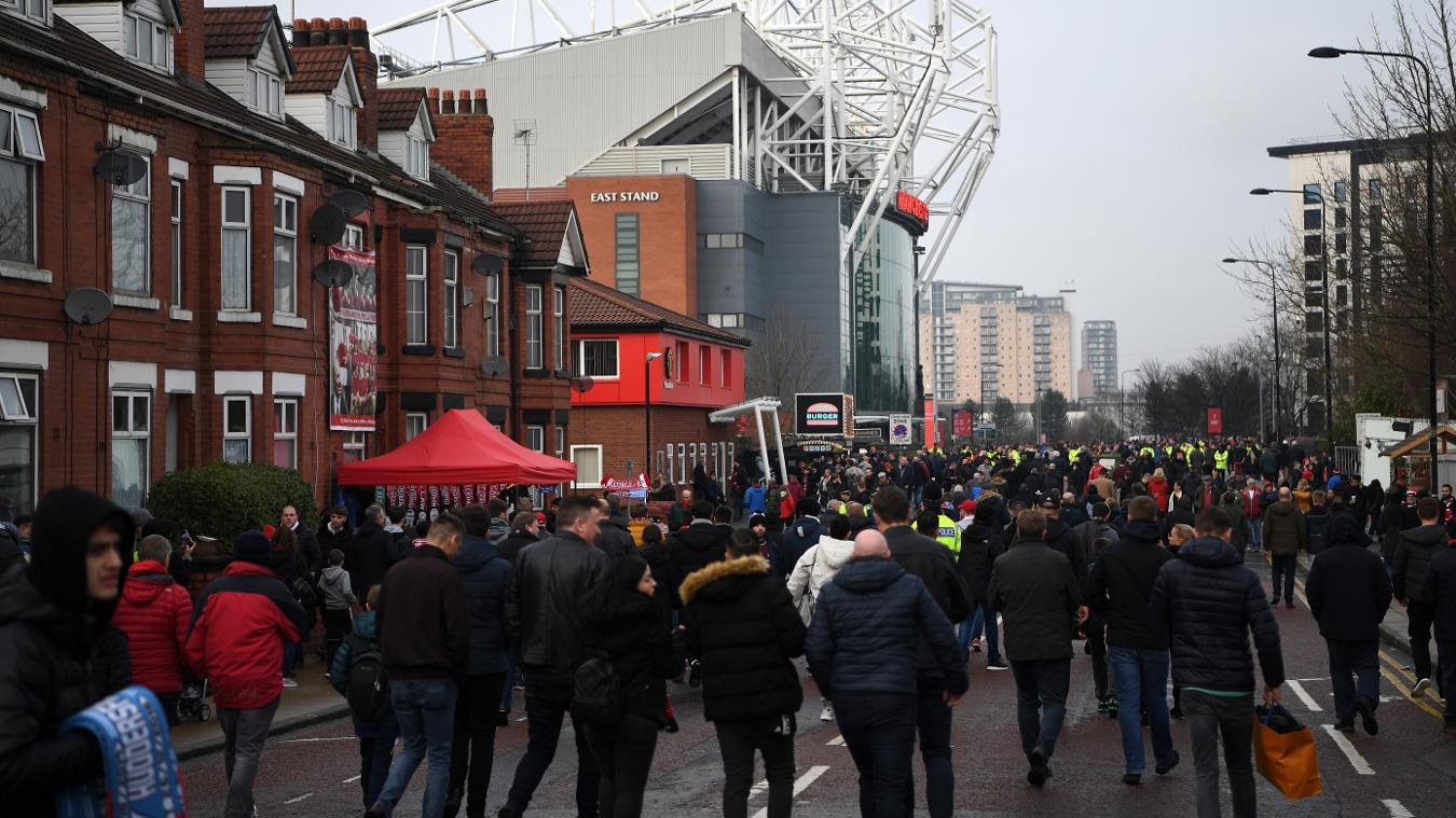 Man Utd fans at Old Trafford