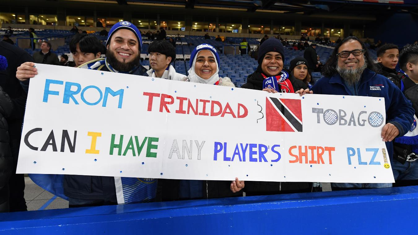 Trindad Chelsea fans